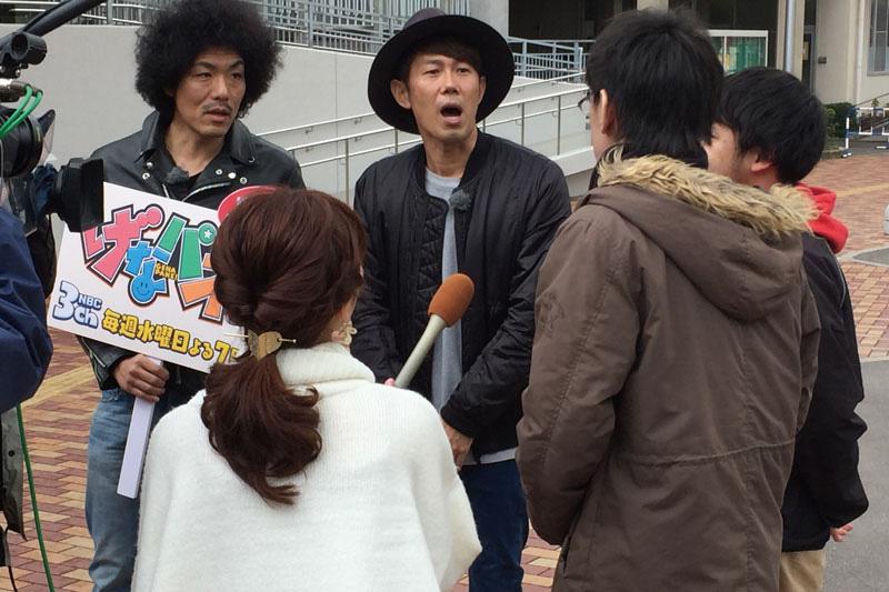 長崎大学で事前告知番組のロケが行われた